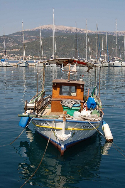 Small fishing boat in Kefalonia by Gloria Baxevanis, via Flickr