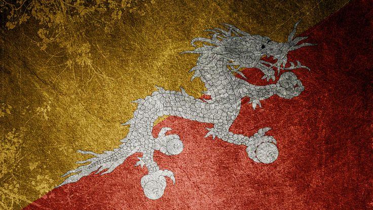 bhutan, flag, dragon