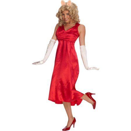 Muppets Miss Piggy Deluxe Adult Halloween Costume, Women's