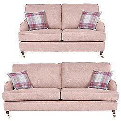 Carrington 2.5 Seater Sofa + 3 Seater Sofa Set, Pink