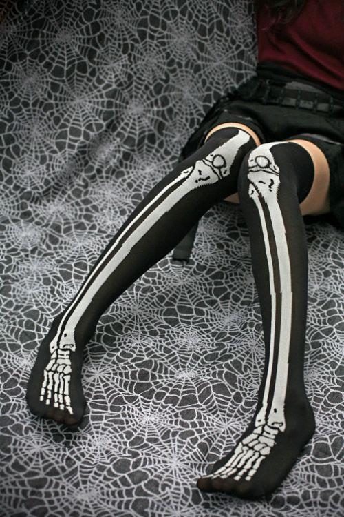 Kawaii Skeleton over the knee socks: Socks Dreams, Dreams Skeletons, Kawaii Skeletons, Bones Socks, Skull Legs, Knee Socks, Bones Stockings, Knee High Socks, Skeletons Socks
