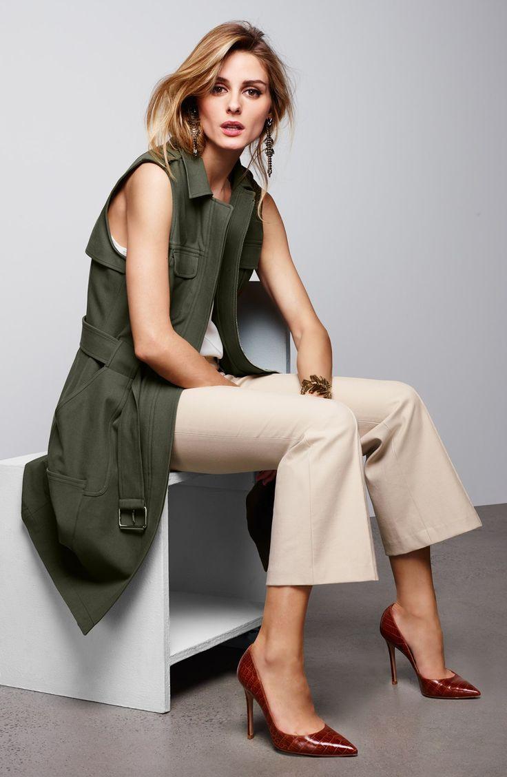 Olivia Palermo + Chelsea28 Vest, Camisole & Pants