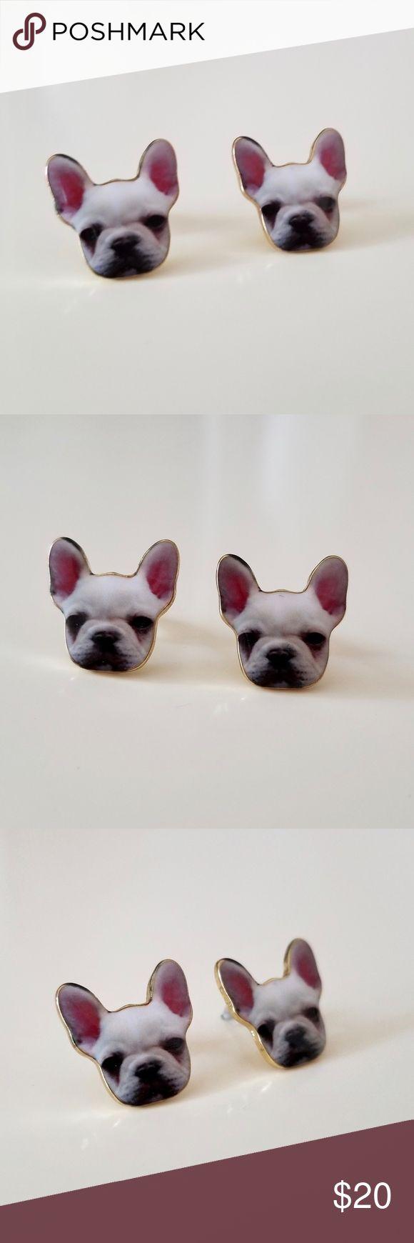 NWOT Cute Stud French Bulldog Dog Earrings Brand new, never worn pug earrings, with push backs. Jewelry Earrings