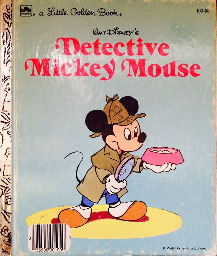 Detective Mickey Little Golden Book By Lonestarblondie On Etsy