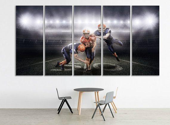 American Football Wall Art American Football Canvas by ZellartCo