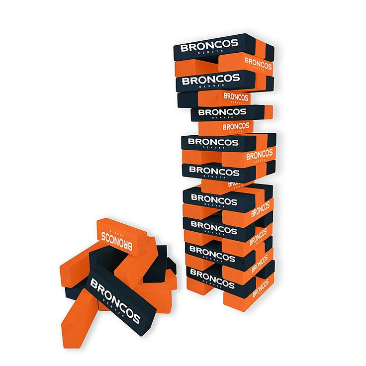 Officially Licensed NFL Table Top Stackers - Broncos