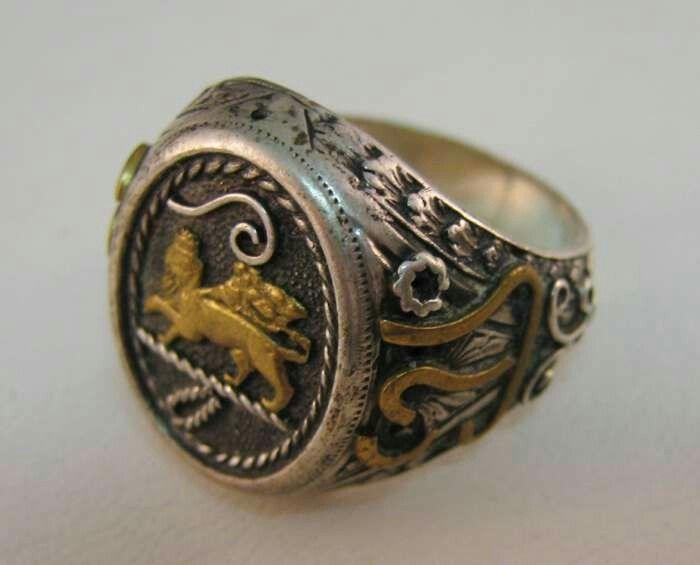 Anello argento con leone di Giuda