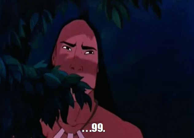 "Pin for Later: 16 Perfect Pocahontas GIFs For Every Type of Situation MRW I'm ""it"" during hide and seek."