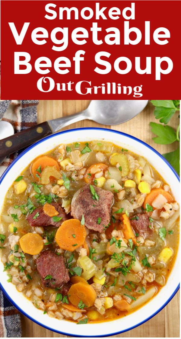 Jun 19, 2020 – Smoked Vegetable Beef Soup is a hearty and delicious meal filled with smoked beef stew meat, chunky veget…