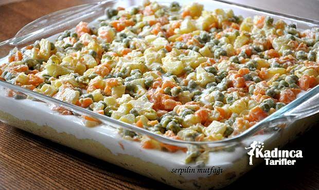 Garnitürlü Patates Salatası Tarifi | Kadınca Tarifler | Oktay Usta - Kolay ve Nefis Yemek Tarifleri Sitesi