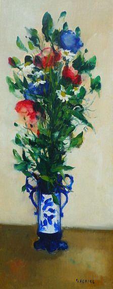 Гастон Sebire Летние цветы в вазе 20-го века
