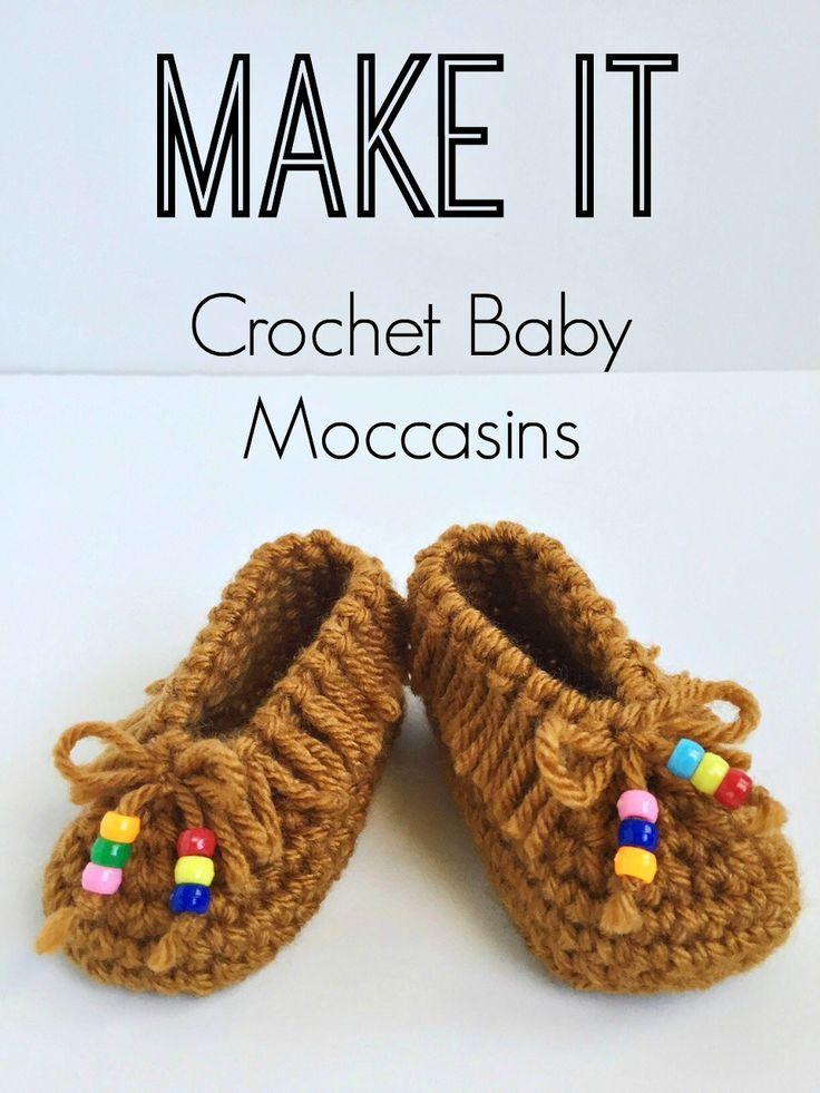 Crochet Baby Moccasins! So cute! FREE PATTERN