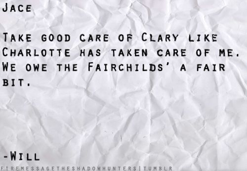 Fairchilds ... Not to mention Jace is your descendant and Clary is Tessa's so...