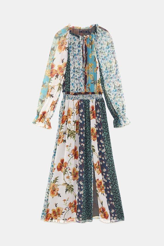 19b06859 Patchwork print dress in 2019 | Fall/Winter Trends 2018-2019