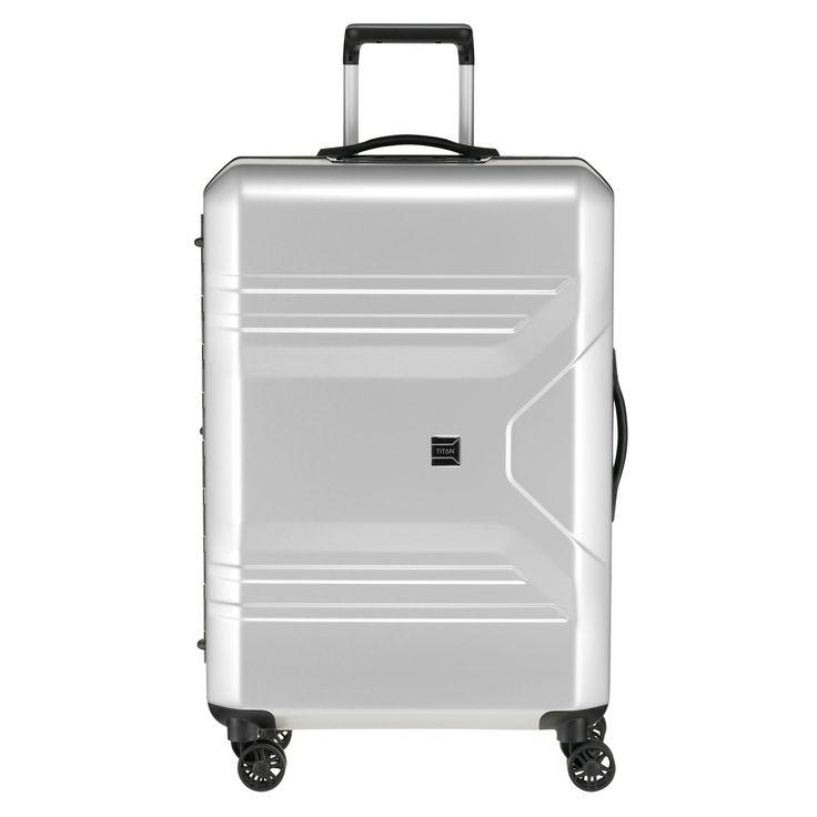 Mittlerer #Koffer TITAN Prior bei Koffermarkt: ✓Leicht ✓4 Rollen ✓Made in Germany ✓Farbe ice silver ✓69 x 46 x 28 cm ✓3,9 kg
