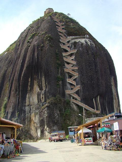 The Rock of Guatapé (Spanish: El Peñón de Guatapé) is a huge monolithic rock near the town of Guatapé, Colombia.