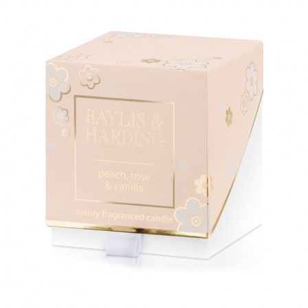 Wonderfully feminine, Peach, Rose & Vanilla captures the depth and warmth of vanilla and rose with a sparkling burst of effervescent peach. Packaging is pretty in the palest of pastel pinks with delicate gold accents. Create a wonderful atmosphere in any space with this beautifully presented Single Wick Candle. An elegantly packaged neutral candle in an embossed jar will add a touch of luxury to any room, whilst its expertly crafted fragrance gives a continuous aroma.