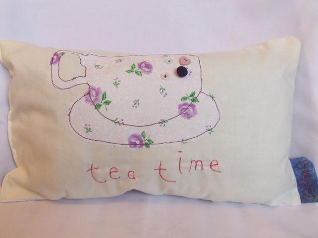 Tea Time Small Cushion £15.00