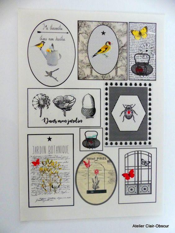 planche de stickers à découper : Stickers par by-karbon