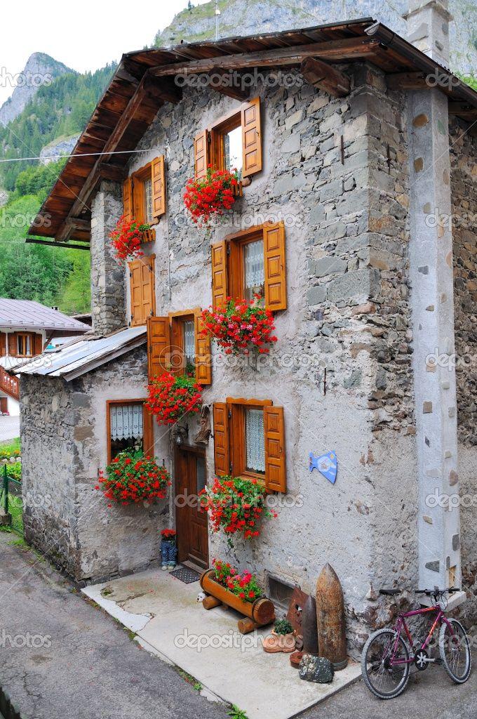 Mountain village chalet in Trentino, Italy • photo: Maumar70 on Deposit Photos