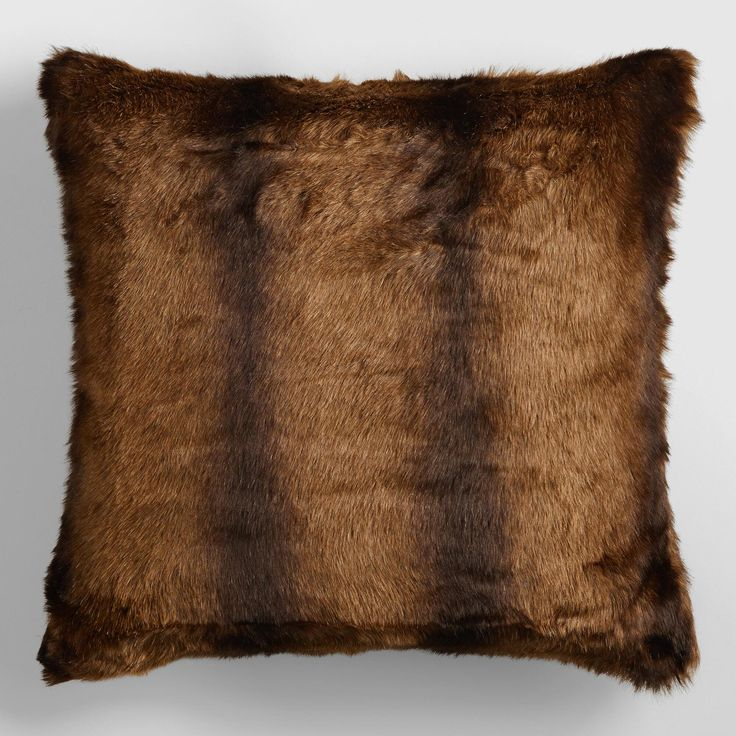 Nothing spices up a room more than some textured accents, so this faux mink throw pillow will be the perfect accessory to warm up and accessorize any couch or chair.   Better Homes & Gardens receives a commission for purchases made through the link on this page.