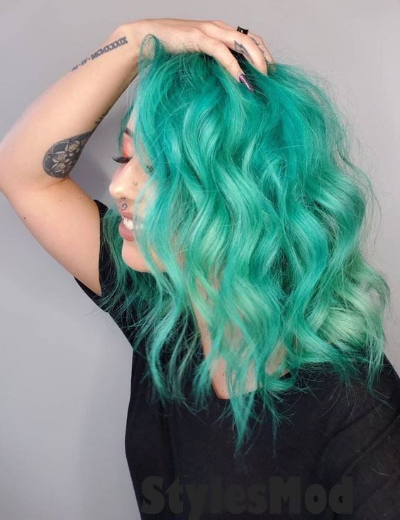 10dd3471424f Crazy 2019 Mystical Mint Hair Color Highlights To Rock Now. Are you looking  the Fresh Hair Color Ideas for yourself in 2019  Just Browse here to see  the ...