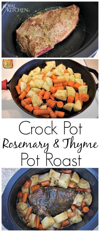 Crock Pot Rosemary And Thyme Pot Roast ~ If you're looking for a pot roast recipe full of flavor then this is the recipe for you!