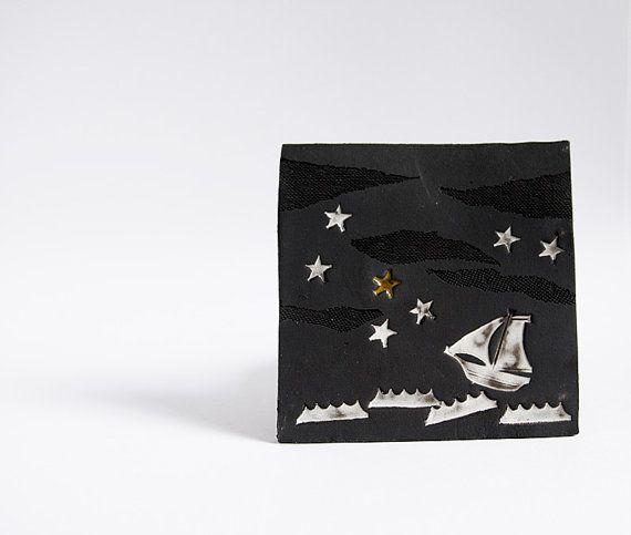 Suivez votre étoile. carreau de céramique Tenture par karoArt