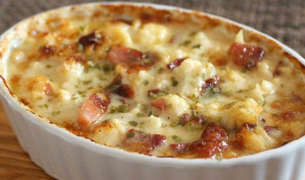 Chou-fleur gratiné au jambon WW, recette d'un bon gratin de saison, délicieux, facile e rapide à préparer pour un repas léger de soir.