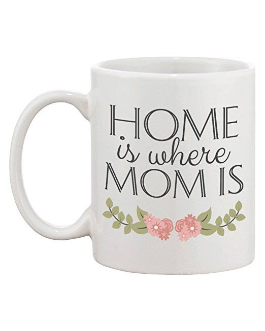 Amazon.com | Personalized Long Distance Relationship Ceramic Coffee Mug for Mom - Home Is Where Mom Is: Coffee Cups & Mugs