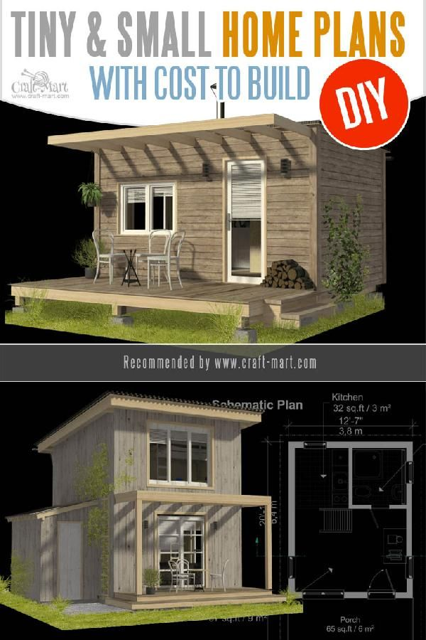 Unique Small House Plans Tiny Homes Cabins Sheds Small House