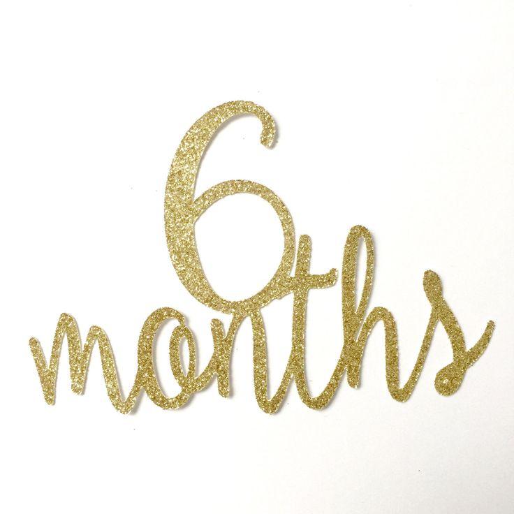 Gold Glitter 6 Months Birthday Cake Topper, Half Birthday Cake Topper, 1/2…