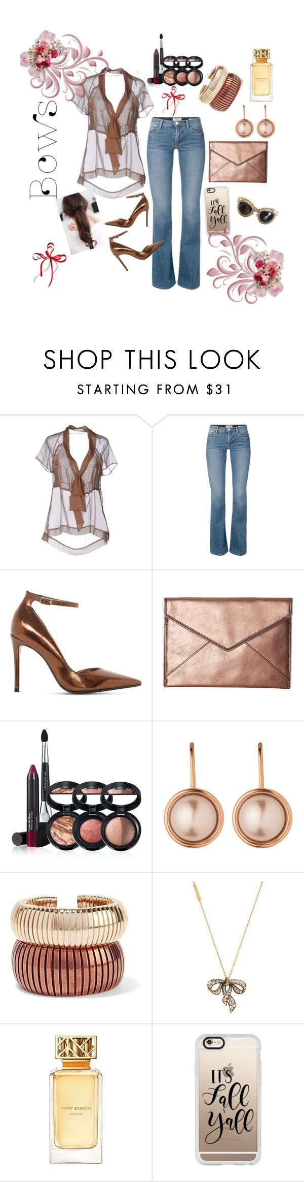 """""""Bows"""" by yvette-colon ❤ liked on Polyvore featuring SCERVINO STREET, Dune, Rebecca Minkoff, Laura Geller, Dyrberg/Kern, Rosantica, Marc Jacobs, Tory Burch, Casetify and Dolce&Gabbana"""
