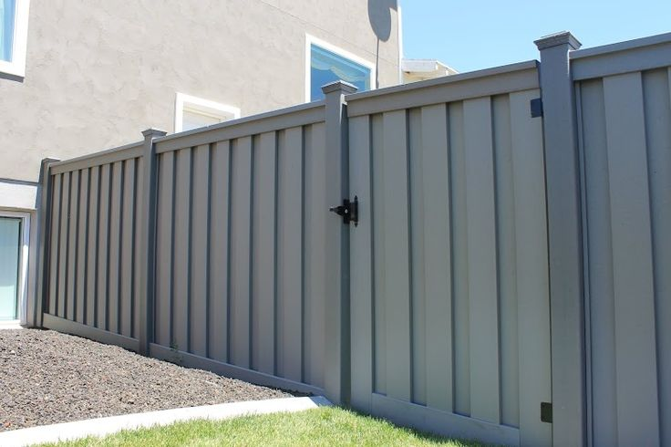 Trex Fencing Composite Winchester Grey Single Gate