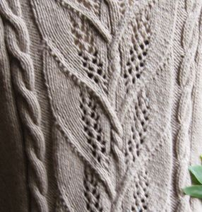 Milkweed  truly love this cable/lace design, adds to overall look with interest