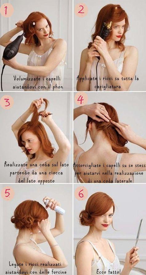 Tutorial chignon per capelli corti