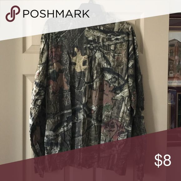 Mock Turtleneck Camouflage Top Worn once, good condition and quality, 100% cotton Yukon Shirts Tees - Long Sleeve
