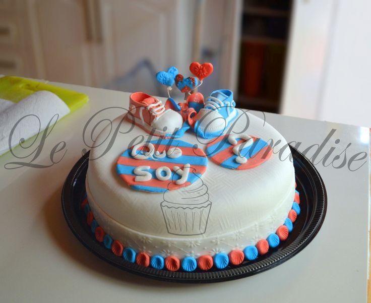 ♔ Chocolate & Strawberry Cake  Baby Shower Cake  https://www.facebook.com/petit.paradise/photos