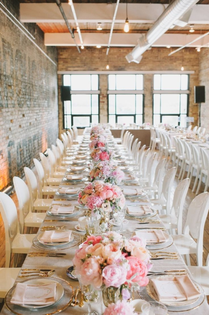 Urban/Industrial Space with Delightful and Delicate Table Decor!