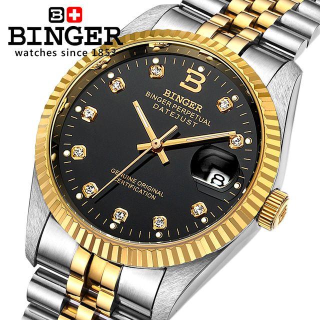 BINGER reloj mecánico automático para hombre relojes de lujo a estrenar  reloj zafiro impermeable reloj hombre da846caf81b7