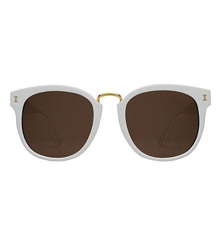 ILLESTEVA Sardinia Round-Frame Sunglasses. #illesteva #sunglasses