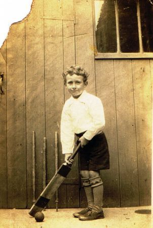 A Cricket Ambition  Photo taken in the rear yard of 74 Dale street in the late 1920's - early 1930's shows a 5 year old Jack Dent.   Jack took up this sport and played in the forces teams in WW2 and for New Marske and Marske Cricket Clubs.   Photo and information kindly submitted by Pauline Young.