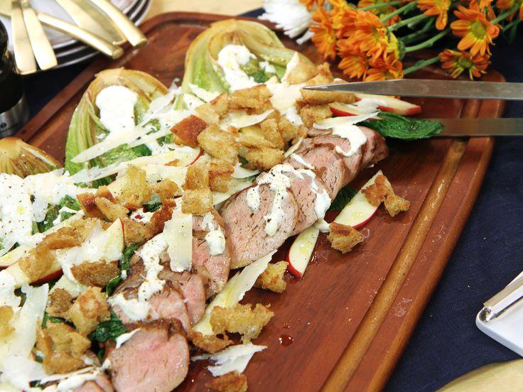 Helstekt fläskfilé med caesarsallad | Recept från Köket.se