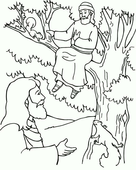 Zaccheaus Coloring Page Sunday School Coloring Pages Bible Coloring Pages Sunday School Coloring Sheets