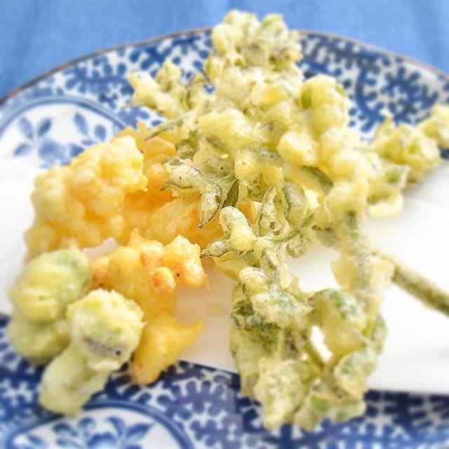 *たらの芽ととうもろこし、そら豆の天ぷらです。盛り合せにはもう2~3��...