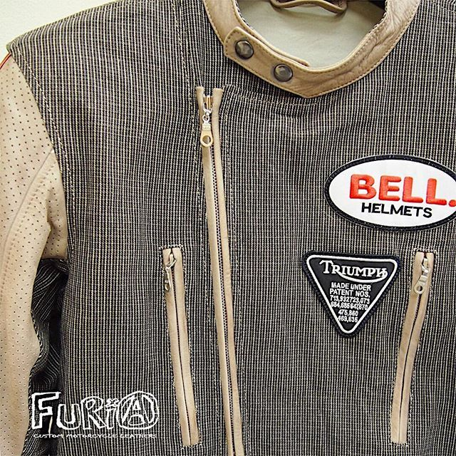 Summer jacket. Jeans & perforated leather. Protective elements for shoulders, elbows and back.  #bellhelmets #bell #furia #furiacustom #furiacustommotorcycle #motojacket #moto #leather #motorcycle #мишаfuria #mishafuria #Motorcyclejacket #Motorcyclesuit #Motoprotection #Motorcycle #Honda #Yamaha #Suzuki #Kawasaki #Ducati #Custom #Kustom #Kustomkultur #Customleathers #Leatherjacket #bikers #Caferacer #Triumph...