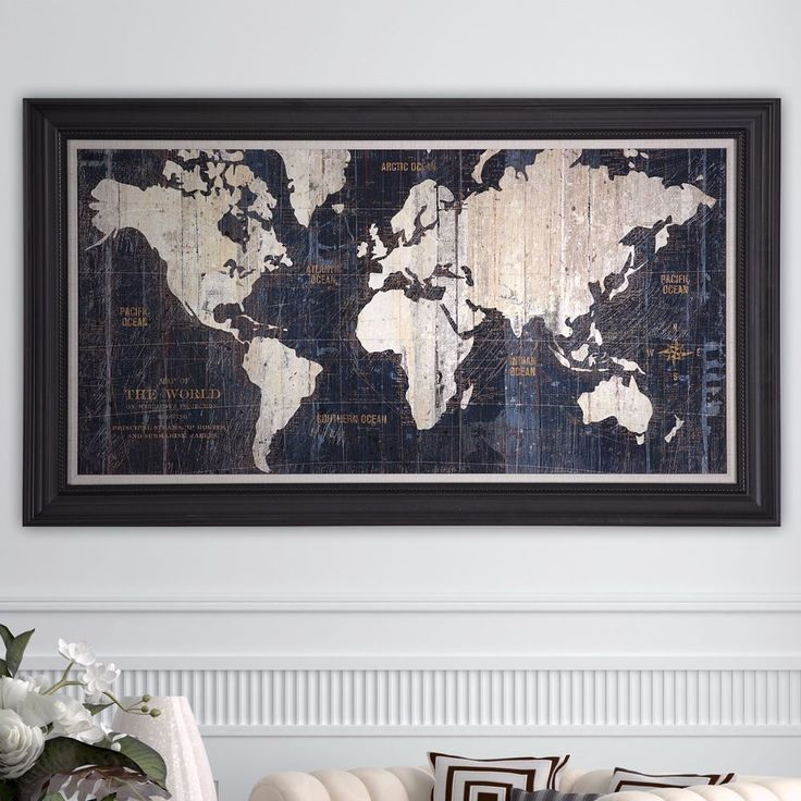 Mejores 7 imgenes de wall art en pinterest arte en lienzo framed gallery wrapped canvas painting graphic wall art sculpture old world map gumiabroncs Images