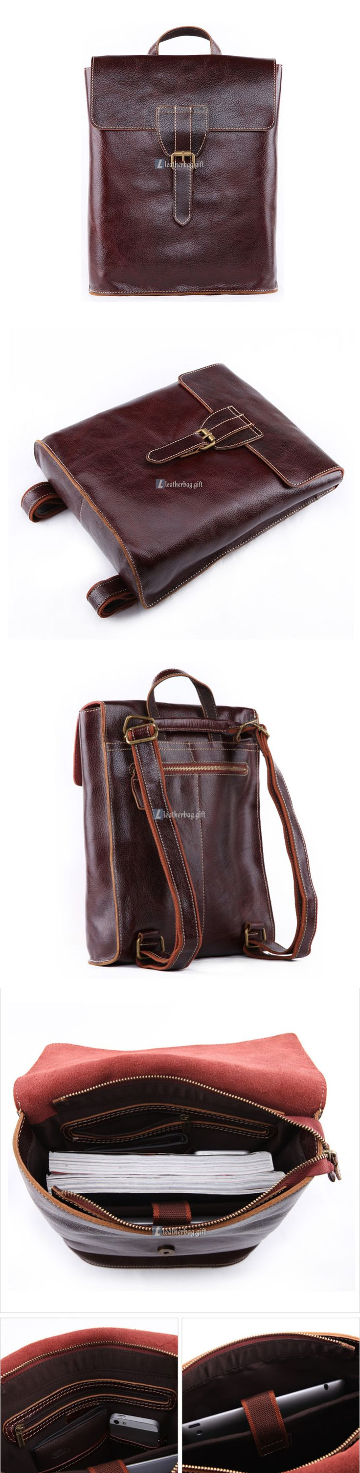 $195 Womens Leather Laptop Backpack Stylish Backpack