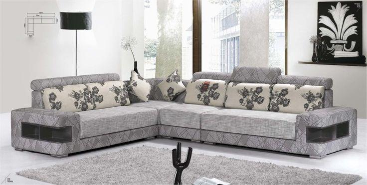 L-Shape Modern Fabric Sofa Corner
