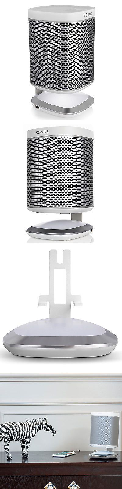 Speaker Mounts and Stands: Flexson Illuminated Charging Stand For Sonos Play:1 (White) -> BUY IT NOW ONLY: $59.99 on eBay!